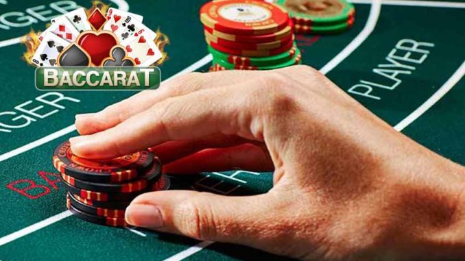 Baccarat online player